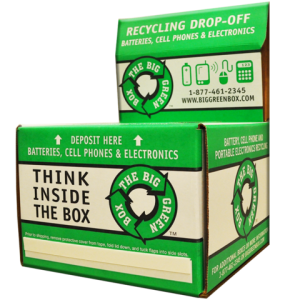 Think inside the box. Cardboard box for recycling.