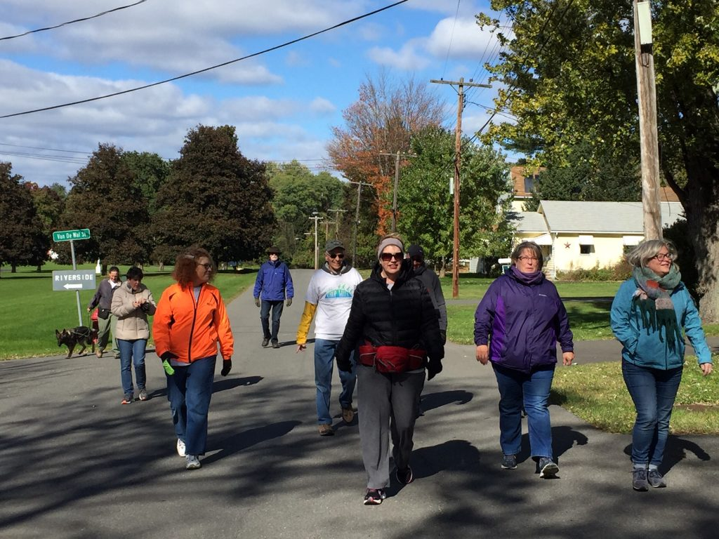 People walking on a road for Church World Service Crop Walk